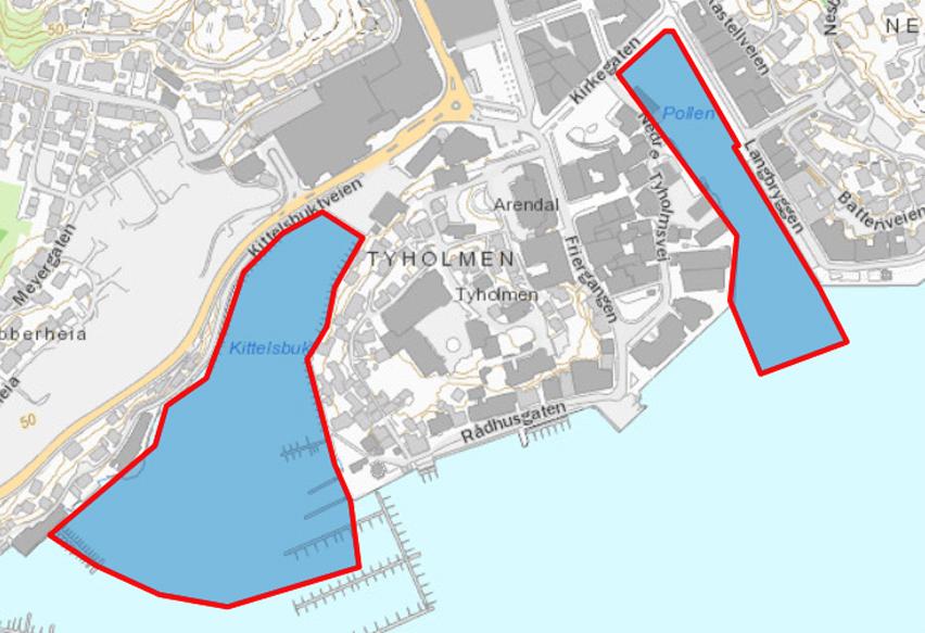 kart over arendal kommune